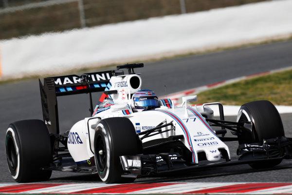Circuit de Catalunya, Barcelona, Spain Monday 22 February 2016. Valtteri Bottas, Williams FW38 Mercedes. World Copyright: Alastair Staley/LAT Photographic ref: Digital Image _R6T7117