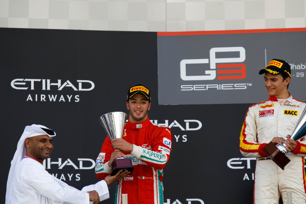 2015 GP3 Series Round 9 Yas Marina Circuit, Abu Dhabi, UAE. Sunday 29 November 2015. Antonio Fuoco (ITA, Carlin)  Photo: Sam Bloxham/GP3 Series Media Service. ref: Digital Image _G7C8722