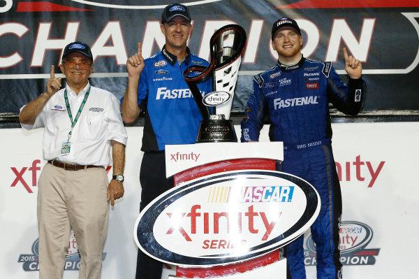 20-21 November, 2015, Homestead, Florida USA Chris Buescher celebrates winning the Xfinity Series Championship ©2015, Brett Moist LAT Photo USA