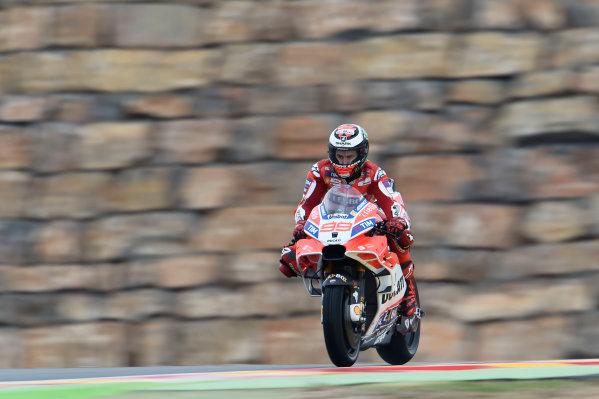 2017 MotoGP Championship - Round 14 Aragon, Spain. Friday 22 September 2017 Jorge Lorenzo, Ducati Team World Copyright: Gold and Goose / LAT Images ref: Digital Image 693813