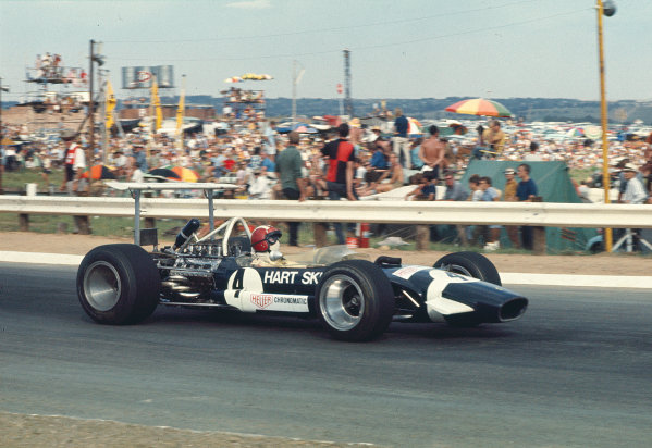 1969 South African Grand Prix.Kyalami, South Africa.27/2-1/3 1969.Jo Siffert (Walker-Durlacher Racing/Lotus 49B Ford) 4th position.Ref-69 SA 03.World Copyright - LAT Photographic