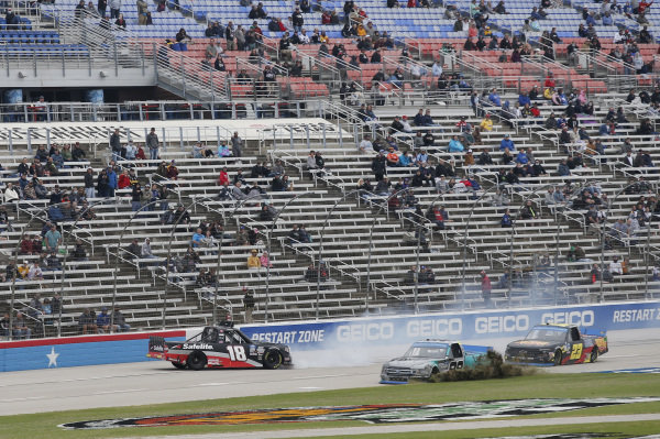 #18: Christian Eckes, Kyle Busch Motorsports, Toyota Tundra Safelite AutoGlass #99: Ben Rhodes, ThorSport Racing, Ford F-150 Tenda Heal