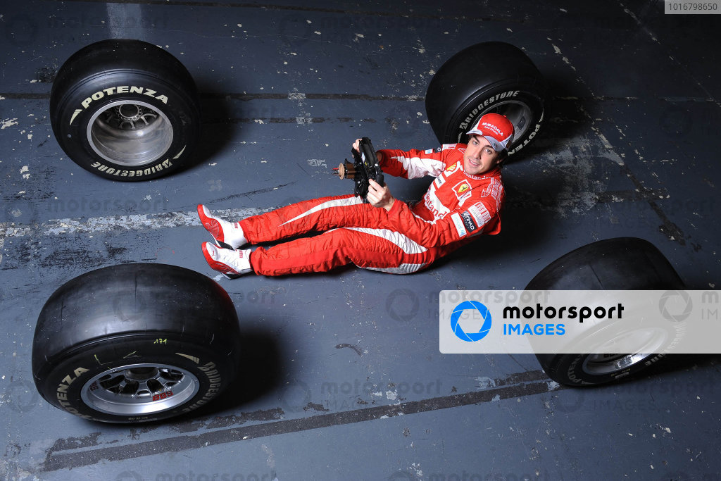 Fernando Alonso during a filming day.