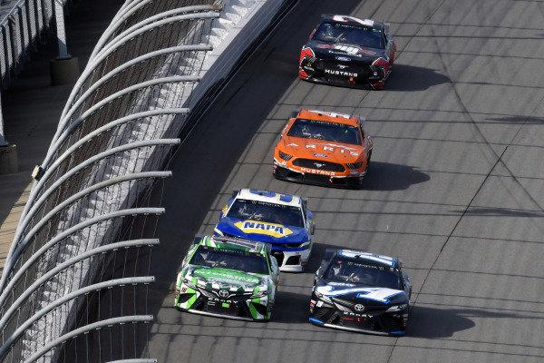 #18: Kyle Busch, Joe Gibbs Racing, Toyota Camry Interstate Batteries and #19: Martin Truex Jr., Joe Gibbs Racing, Toyota Camry Auto-Owners Insurance/Martin Truex Jr. 500th Start