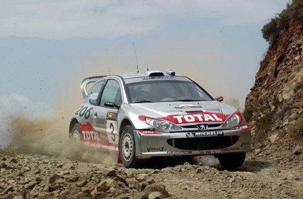 World Rally Championship, Cyprus Rally, April 18-21, 2002.Harri Rovanpera during shakedownPhoto: Ralph Hardwick/LAT