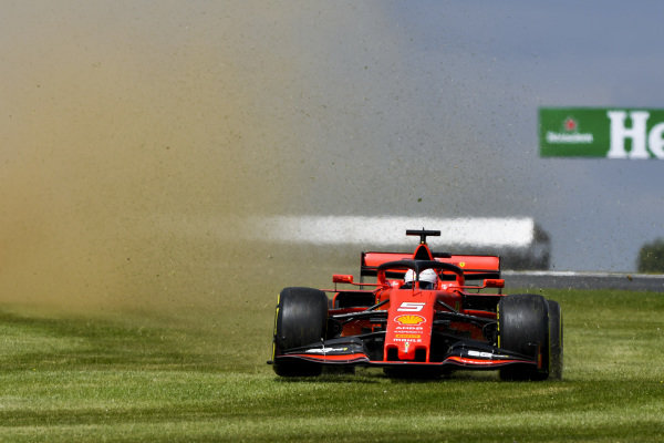 Sebastian Vettel, Ferrari runs wide