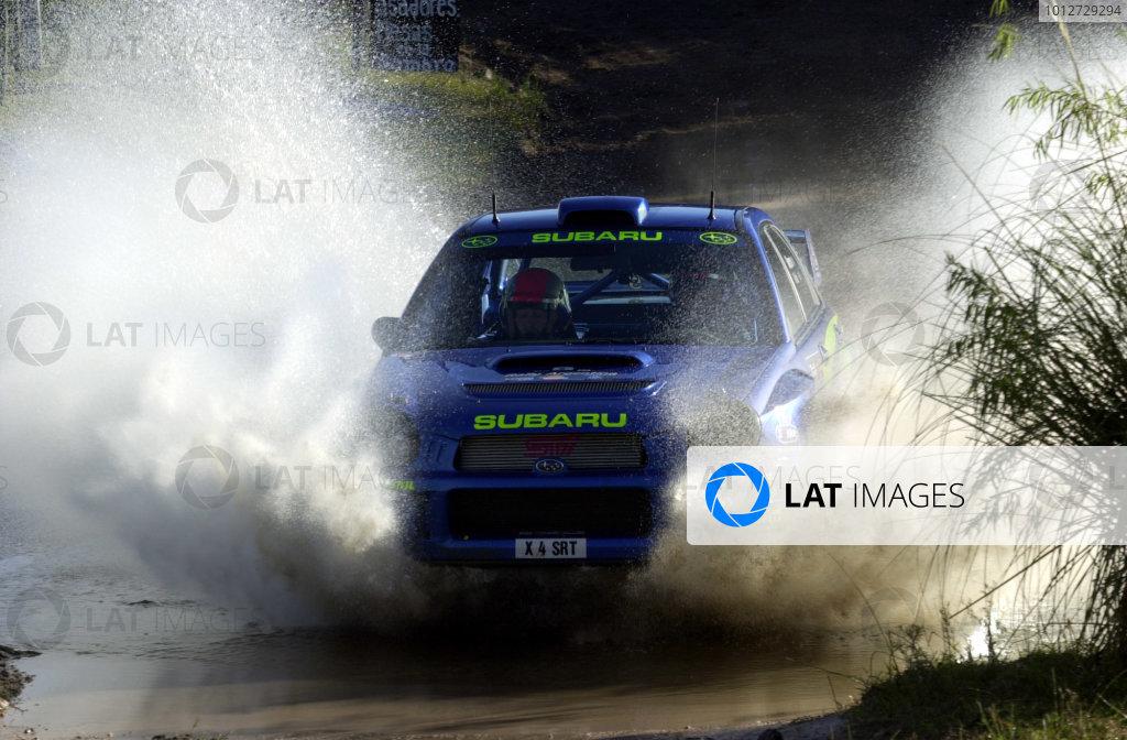 2001 World Rally Championship. ArgentinaMay 3rd-6th, 2001Richard Burns makes a splash during shakedown.Photo: Ralph Hardwick/LAT