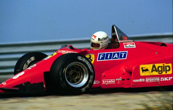 1984 Dutch Grand Prix.Zandvoort, Holland.24-26 August 1984.Rene Arnoux (Ferrari 126C4).  Ref: 84HOL01. World Copyright - LAT Photographic