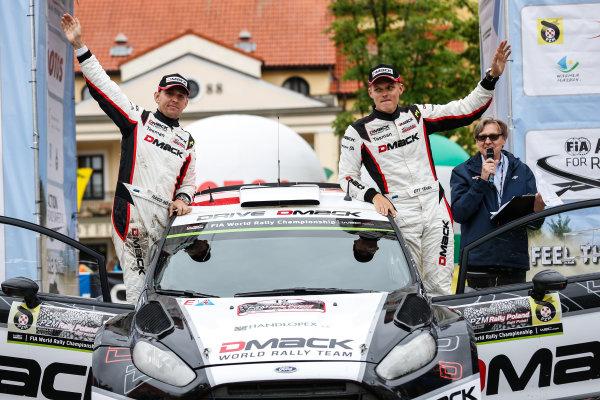 2016 FIA World Rally Championship, Round 07, Rally Poland,  June 30 - July 03, 2016 Ott Tanak, Ford, podium Worldwide Copyright: McKlein/LAT