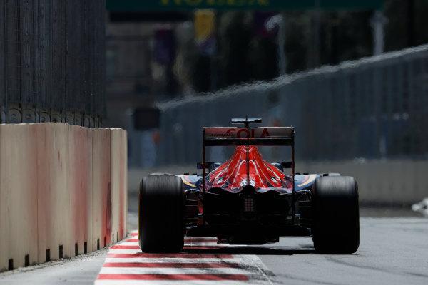 Baku City Circuit, Baku, Azerbaijan. Saturday 18 June 2016. Daniil Kvyat, Toro Rosso STR11 Ferrari. World Copyright: Glenn Dunbar/LAT Photographic ref: Digital Image _V2I9506