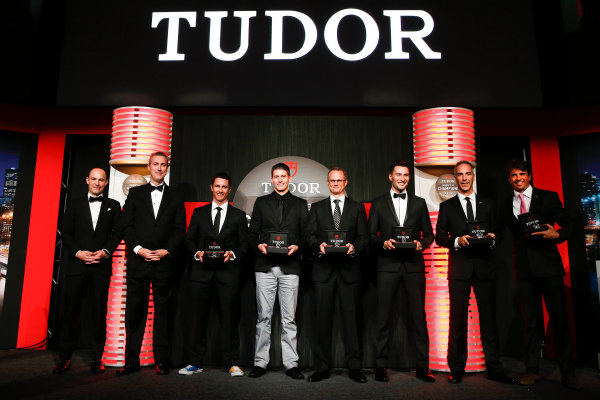 13 October, 2014, New York, New York USA The champions are presented with Tudor Watches ©2014, Michael L. Levitt LAT Photo USA