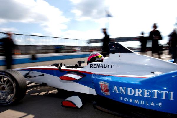 FIA Formula E Test Day, Donington Park, UK.  9th - 10th July 2014.  Franck Montagny, Andretti Autosport. Photo: Glenn Dunbar/FIA Formula E ref: Digital Image _W2Q9456