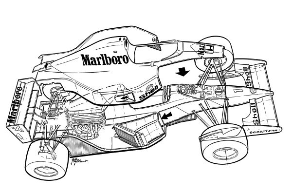 McLaren MP4-7A 1992 exploded overview