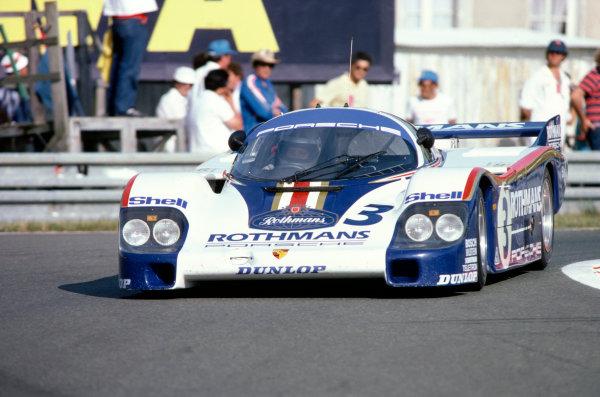 1982 Le Mans 24 hours. Le Mans, France. 19-20 June 1982. Hurley Haywood/Al Holbert/Jurgen Barth (Porsche 956), 3rd position. World Copyright: LAT Photographic. Ref: 82LM10.