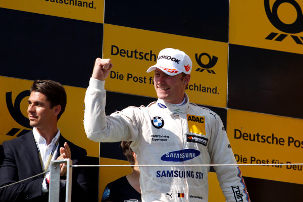 2017 DTM Round 3 Hungaroring, Budapest, Hungary. Sunday 18 June 2017. Podium: third place Maxime Martin, BMW Team RBM, BMW M4 DTM World Copyright: Alexander Trienitz/LAT Images ref: Digital Image 2017-DTM-R3-HUN-AT1-2730