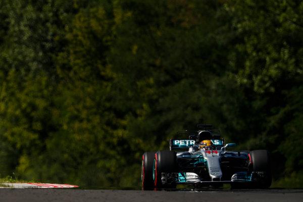 Hungaroring, Budapest, Hungary.  Friday 28 July 2017. Lewis Hamilton, Mercedes F1 W08 EQ Power+. World Copyright: Glenn Dunbar/LAT Images  ref: Digital Image _X4I9642