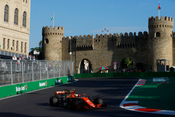 Baku City Circuit, Baku, Azerbaijan. Friday 23 June 2017. Stoffel Vandoorne, McLaren MCL32 Honda.  World Copyright: Steven Tee/LAT Images ref: Digital Image _R3I2492