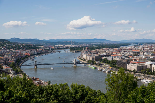 Hungaroring, Budapest, Hungary. Monday 5 June 2017. A view of the city from Citadella. World Copyright: Zak Mauger/LAT Images ref: Digital Image _56I0511
