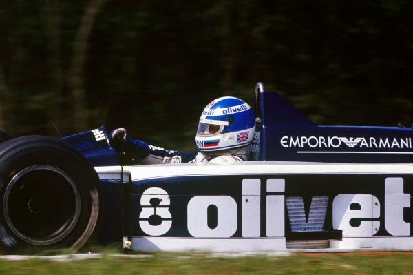 Hungaroring, Budapest, Hungary. 8-10 August 1986. Derek Warwick (Brabham BT55-BMW), retired, action. World Copyright: LAT Photographic.Ref:  86HUN02