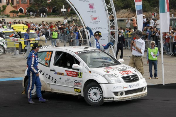 2008 FIA World Rally ChampionshipRound 06Rally d'Italia Sardegna 200815-18 of May 20Aaron Burkart, Citroen JWRC, Podium