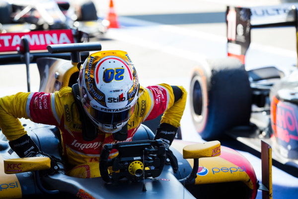 2016 GP2 Series Round 8 Spa-Fracorchamps, Spa, Belgium. Sunday 28 August 2016. Antonio Giovinazzi (ITA, PREMA Racing)  Photo: Sam Bloxham/GP2 Series Media Service. ref: Digital Image _SBB6150