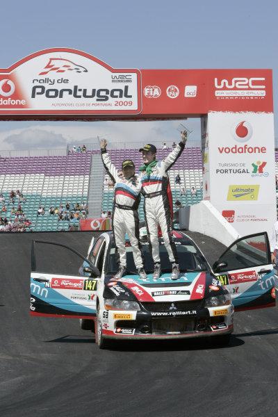 Round 04Rally Portugal 2- 5 of April 2009Armindo Araujo, Mitsubishi PWRC, podiumWorldwide Copyright: McKlein/LAT