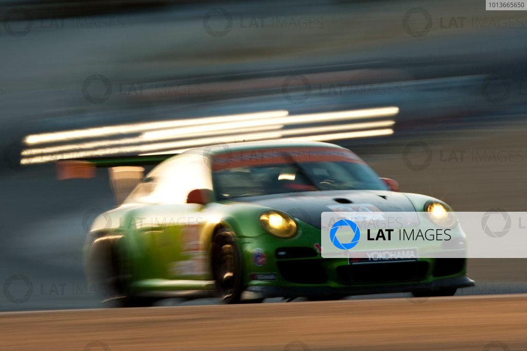 American Le Mans Series. Laguna Seca, Monterey, California. 15th - 17th September 2011. Peter LeSaffre / Damien Faulkner, Green Hornet / Black Swan Racing, Porsche 911 GT3 Cup. Action. Photo: Drew Gibson/LAT Photographic. ref: Digital Image _Y2Z7039
