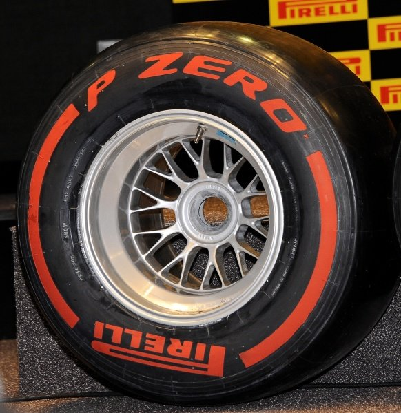 Pirelli P Zero super-soft compound tyre.Pirelli 2012 Pre-Season Launch, Yas Marina Circuit, Abu Dhabi, Wednesday 25 January 2012.
