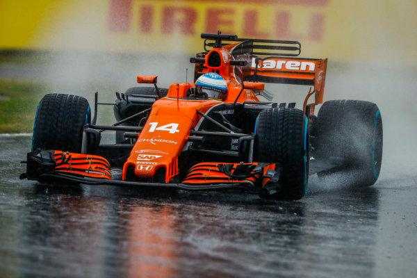 Suzuka Circuit, Japan. Friday 06 October 2017. Fernando Alonso, McLaren MCL32 Honda.  World Copyright: Steven Tee/LAT Images  ref: Digital Image _R3I6811
