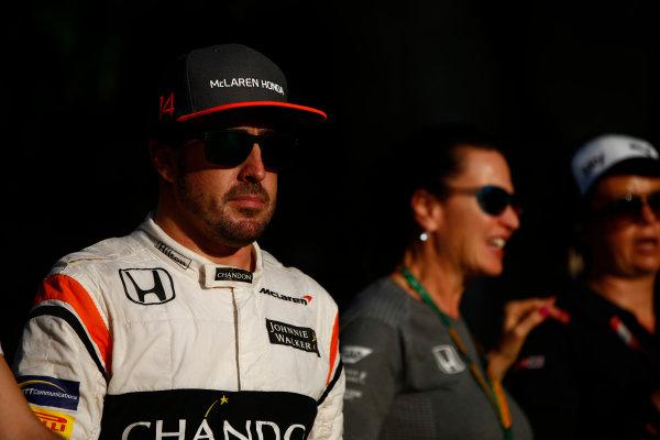 Sepang International Circuit, Sepang, Malaysia. Saturday 30 September 2017. Fernando Alonso, McLaren.  World Copyright: Andrew Hone/LAT Images  ref: Digital Image _ONZ9776