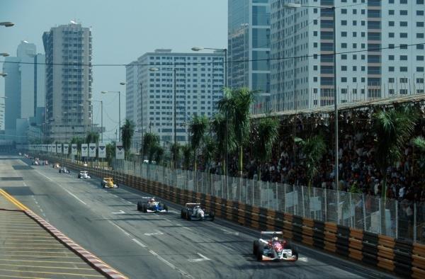 Pedro de la Rosa (ESP) Dallara F395 TOM'S Toyota finished third.International Formula Three, Macau Grand Prix, Macau, Hong Kong, 19 November 1995.