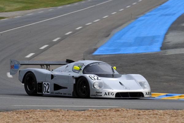 Circuit de La Sarthe, Le Mans, France. 13th - 17th June 2012. Thursday Group C Support QualifyingGareth Evans, No 62 Sauber C9 Mercedes.Photo: Jeff Bloxham/LAT Photographicref: Digital Image DSC_1147