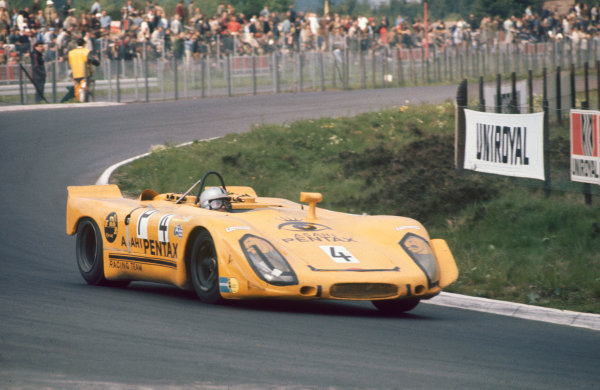 Nurburgring, Germany. 31st May 1970. Rd 7.Sepp Greger/Helmut Leuze (Porsche 908/02), 8th position, action. World Copyright: LAT Photographic.Ref:  70Ring 08.