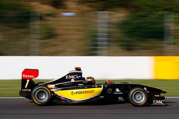 Circuit de Spa-Francorchamps, Spa, Belgium. 2nd September 2012. Sunday Race 2.Daniel Abt (GER, Lotus GP) Action. World Copyright: Daniel Kalisz/LAT Photographic Ref: Digital Image _KAL0187.jpg