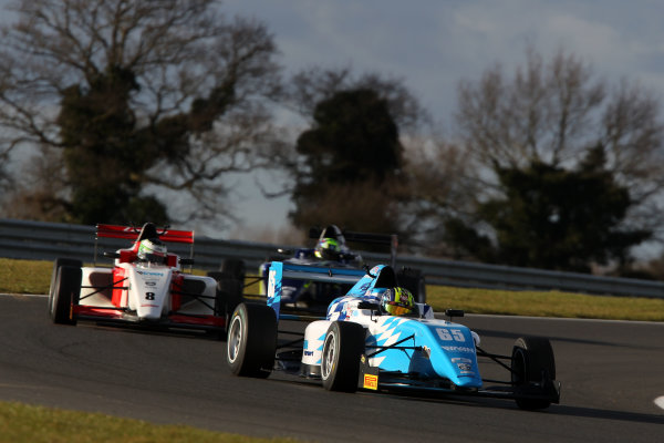 2016 BRDC British Formula 3 Championship, Snetterton, Norfolk. 27th - 28th March 2016. Enaam Ahmed (GBR) Douglas Motorsport BRDC F3. World Copyright: Ebrey / LAT Photographic.