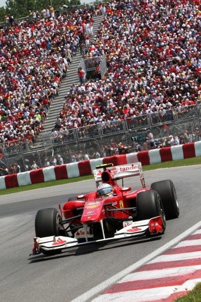 Fernando Alonso (ESP) Ferrari F10. Formula One World Championship, Rd 8, Canadian Grand Prix, Race, Montreal, Canada, Sunday 13 June 2010.