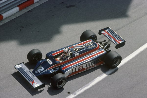 1981 Monaco Grand Prix.Monte Carlo, Monaco. 28-31 May 1981.Nigel Mansell (Lotus 87-Ford Cosworth), retired.World Copyright: LAT PhotographicRef: 35mm transparency 81MON27