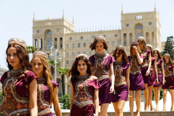 Baku City Circuit, Baku, Azerbaijan. Saturday 18 June 2016. Grid Girls. World Copyright: Steven Tee/LAT Photographic ref: Digital Image _H7I8599