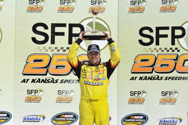 19-20 April, 2013, Kansas City, Kansas USA Matt Crafton in victory lane ©2013, Scott R LePage LAT Photo USA
