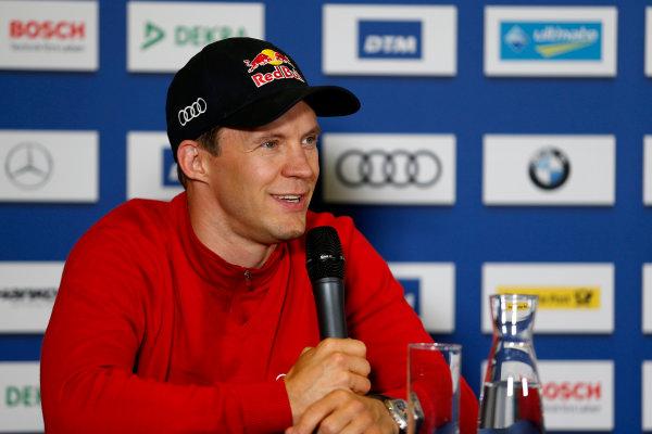 2017 DTM Round 4 Norisring, Nuremburg, Germany Friday 30 June 2017. Press Conference, Mattias Ekström, Audi Sport Team Abt Sportsline, Audi A5 DTM World Copyright: Alexander Trienitz/LAT Images ref: Digital Image 2017-DTM-R4-NOR-AT2-0061