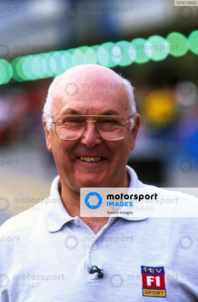 British TV Commentator Murray WalkerBrazilian Grand Prix, Interlagos, 11 April 1999