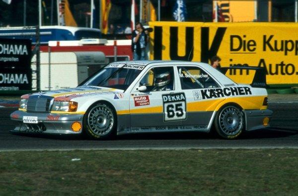 Michael Schumacher (GER) Mercedes Benz 190E. German Touring Car Championship, Hockenheim, Germany, 1990.
