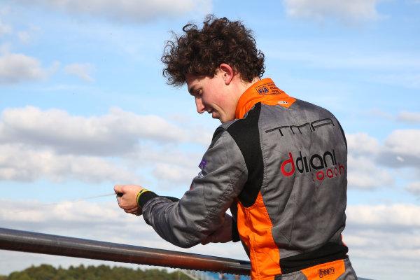 2016 BRDC F3 Championship, Donington Park, Leicestershire. 10th - 11th September 2016. Matheus Leist (BRA) Double R Racing BRDC F3. World Copyright: Ebrey / LAT Photographic.