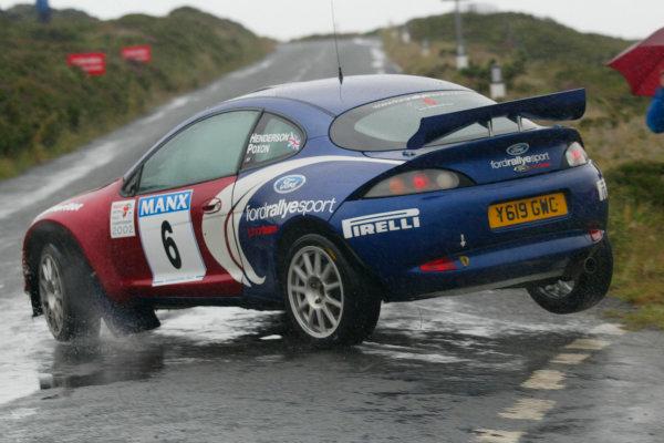 2002 British Rally Championship.Manx International Rally. Douglas, Isle of Man.1-3 August 2002.David Henderson/Scott Poxon (Ford Puma).Ref-02 MIR 23.World Copyright - Malcolm Griffiths/LAT Photographic
