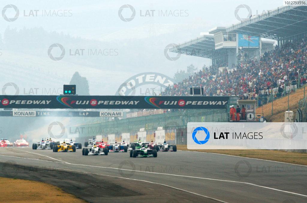 2002 Formula Nippon ChampionshipFuji, Japan. 07th April 2002,Start of the race.World Copyright: Yasushi Ishihara/LAT Photographicref: 8mb Digital Image Only