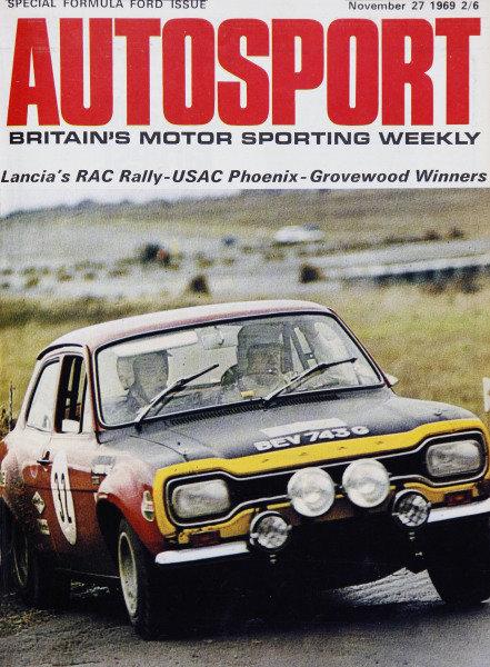 Cover of Autosport magazine, 27th November 1969