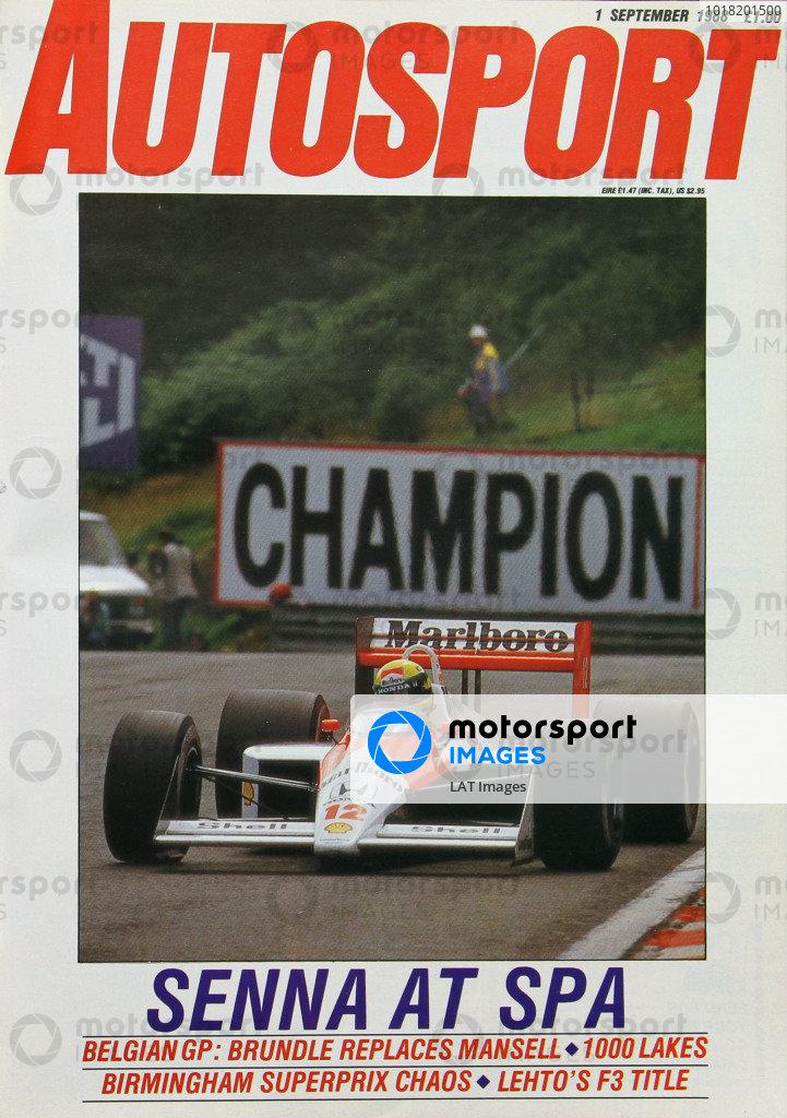 Cover of Autosport magazine, 1st September 1988