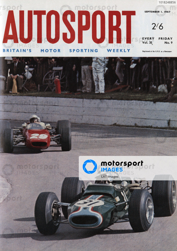 Cover of Autosport magazine, 1st September 1967