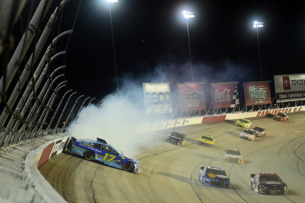 Chris Buescher, Roush Fenway Racing Ford Fifth Third Bank, wrecks, Copyright: Jared C. Tilton/Getty Images.
