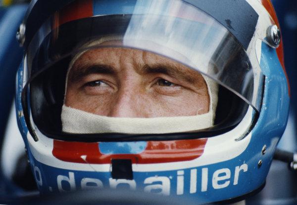 Patrick Depailler, Tyrrell, during practice.